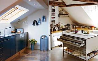 Кухня с крышей