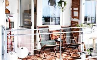 Интерьер маленького балкона фото