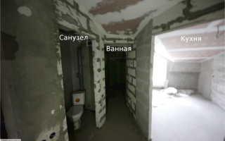 Ванная комната прямоугольной формы