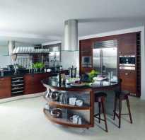 Кухня гостиная с островом