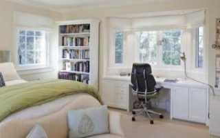 Спальня и рабочая зона в одной комнате