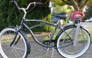 Велосипед с мотором от триммера своими руками