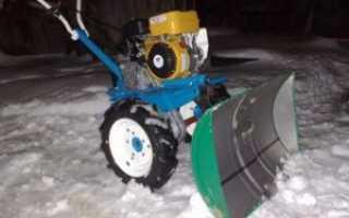 Отвал на культиватор для уборки снега