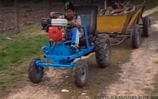 Самодельный трактор с двигателем