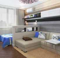 Интерьер комнаты зал и спальня совместно