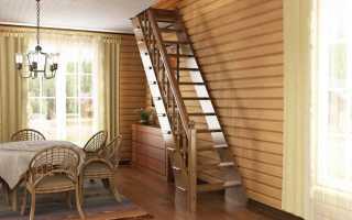 Как сделать лестницу в узком проеме