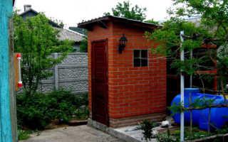 Крыша на кирпичный туалет