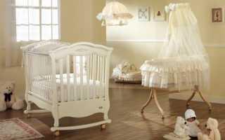 Размеры детской кровати для новорожденного