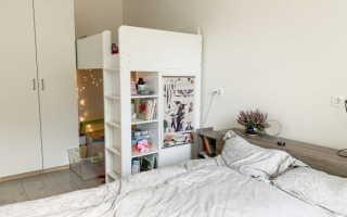 Взрослая и детская кровать в одной комнате