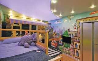 Натяжные потолки фото для детской спальни фото