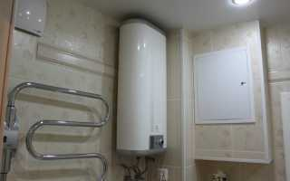 Установка водонагревателя в туалете