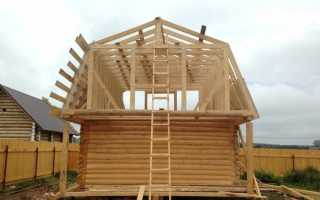 Ломаная крыша стропильная