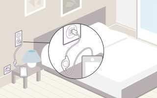 Розетки в спальной