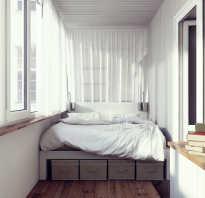 Балкон спальня дизайн