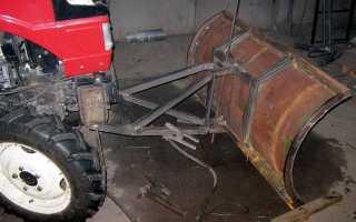 Самодельная лопата для минитрактора